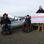 Donation from Pooleys, with Dave T and Colin